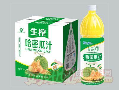 源农生榨哈密瓜汁1.5L×6瓶