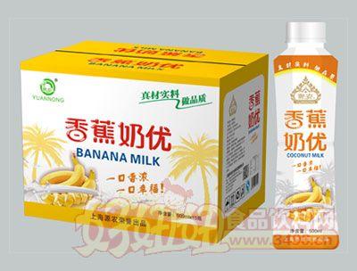 源农香蕉奶优500ml×15瓶