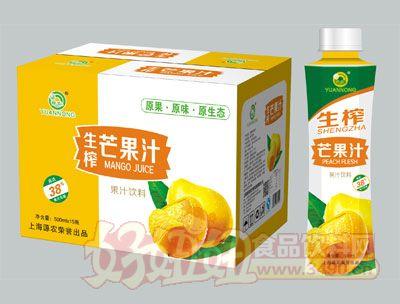 源农生榨芒果汁500ml×15瓶