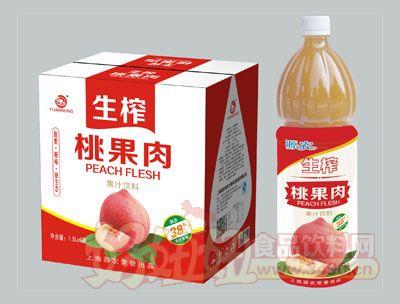 源农生榨桃果肉果汁饮料1.5L×6瓶
