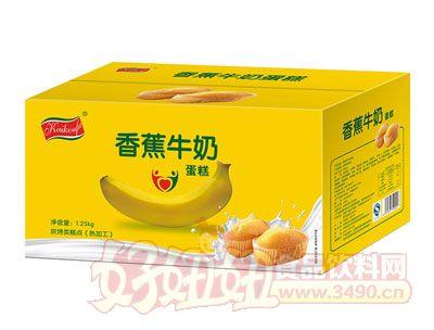 �_口福香蕉牛奶蛋糕箱�b