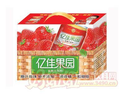 亿佳果园12罐装草莓汁