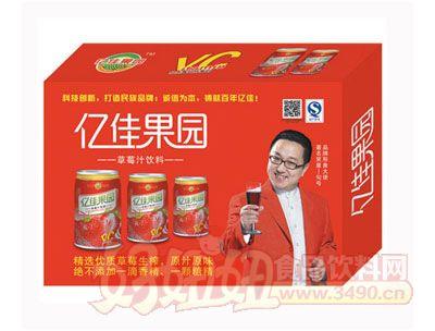 亿佳果园24罐装草莓汁