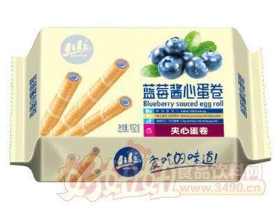 川岛蓝莓酱心夹心蛋卷102g