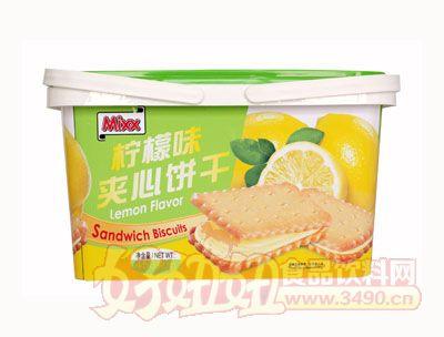 450g柠檬味夹心饼干