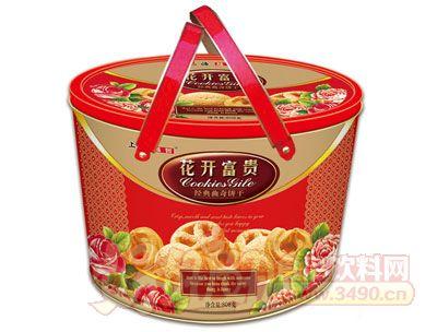 上海越哲花开富贵曲奇饼干808g