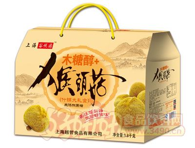 上海谷悦园木糖醇+猴头菇什锦大礼盒1.8kg
