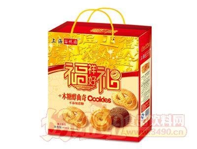 上海谷悦园福祥好礼+木糖醇曲奇饼干800g