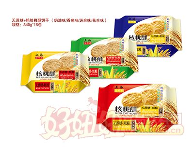 谷悦园无蔗糖+粗粮核桃酥饼干340g