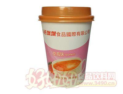 可利客草莓味奶茶80克