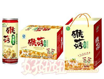 上山果猴菇核桃乳标准箱240ml×20罐