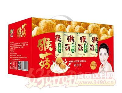 上山果猴菇核桃乳礼盒开窗礼盒240ml×12罐
