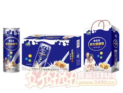 上山果中老年养生核桃乳标准箱240ml×20罐