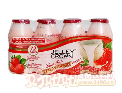 捷利冠草莓味乳酸菌饮品100ml×4瓶