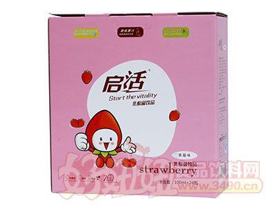 启活草莓味乳酸菌饮品100ml×24瓶礼盒