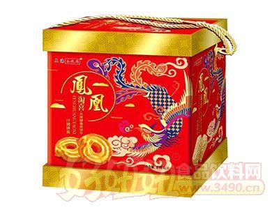 谷悦园凤凰淘喜木糖醇曲奇饼干什锦铁盒818g