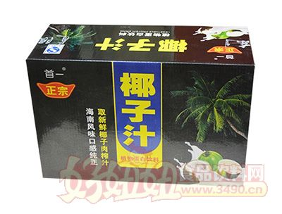 首一椰子汁植物蛋白饮料箱装