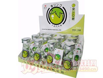 清一口果汁Q糖-56g×12小瓶×12彩盒青苹果味