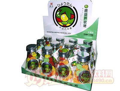 清一口糖葫芦软糖50g×12小瓶×12彩盒