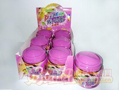清一口五彩缤纷我的爱-水果味五彩糖80g×6小瓶×12彩盒