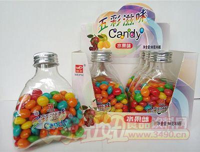 维派五彩滋味水果味五彩糖98g×6小瓶×12彩盒