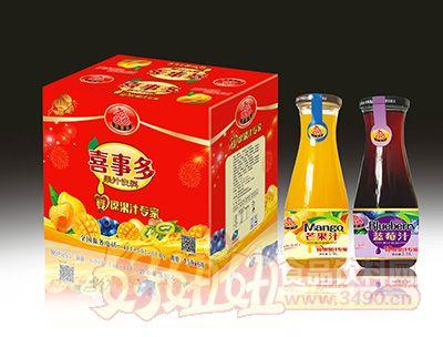 喜事多芒果汁蓝莓汁1.5lx6瓶