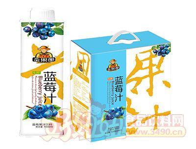 金果郎蓝莓汁1000mlx6盒