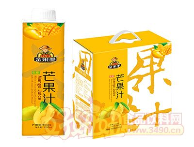 金果郎芒果汁1000mlx6盒