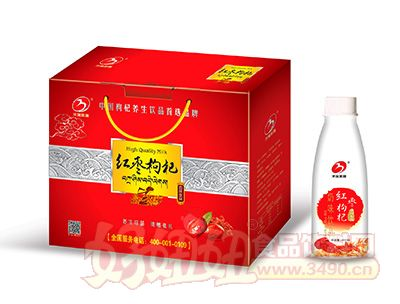 华宝圣园枸杞红枣饮品400mlx12盒