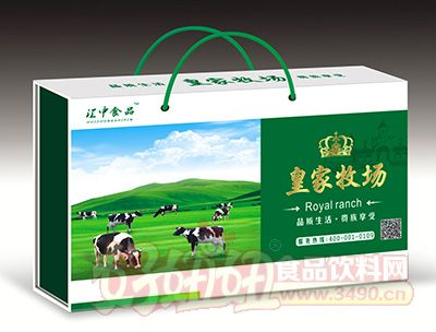 江中食品皇家牧场饮品250mlx12盒绿盒