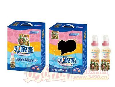 熊大熊二乳酸菌发酵型饮品开窗礼盒