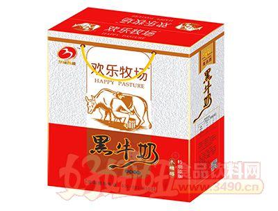 华宝圣园欢乐牧场黑牛奶248mlx12盒