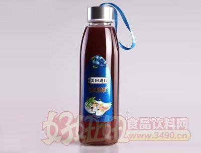 原浆美国进口澳利缘蓝莓果汁420ml