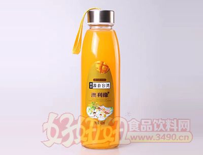 原浆台湾澳利缘芒果果汁420ml