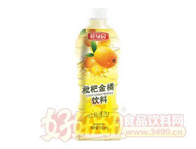 鲜绿园枇杷金橘饮料550ml