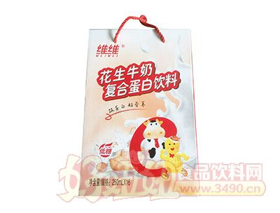 维维花生牛奶复合蛋白饮品250ml×16礼盒