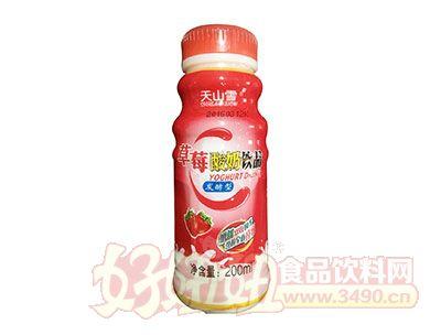 天山雪发酵型草莓酸奶饮品200ml
