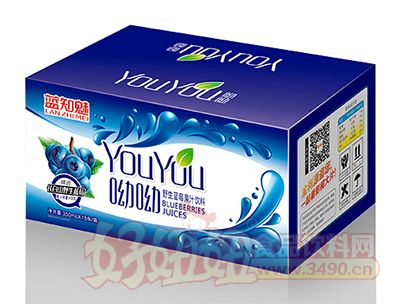 蓝知魅野生蓝莓果汁饮料箱装