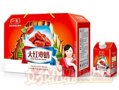 一浓大红枣奶488mlx6盒