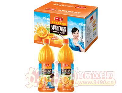 一浓乐果粒橙箱装饮品