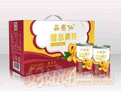 每赛仙425g尊享装(8罐箱)黄桃罐头