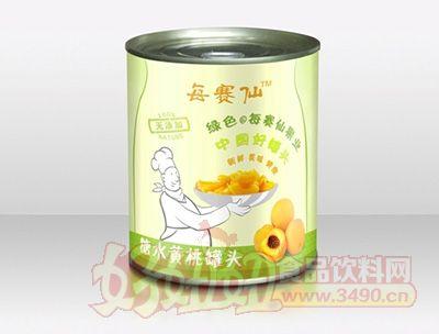 每赛仙820g实惠装黄桃罐头