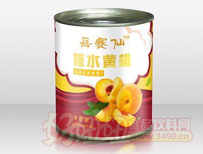 每赛仙820g尊享装罐黄桃罐头