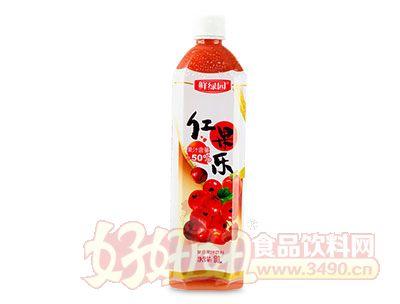 鲜绿园红果乐果汁饮料1L