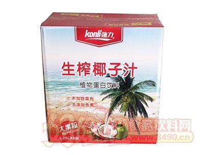 强力生榨椰子汁1.25LX6箱装