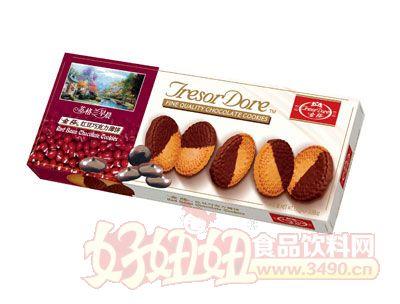 金莎红豆巧克力薄饼110g