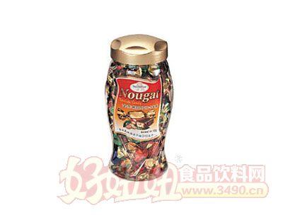 梁丰金莎鲜奶巧克力牛轧糖450g