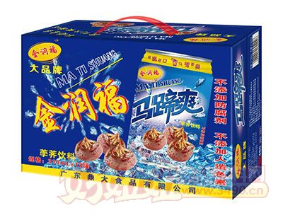 金润福马蹄爽(荸荠饮料)310ml×12罐手提礼盒