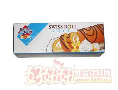 甜蜜之家香草味瑞士卷蛋糕