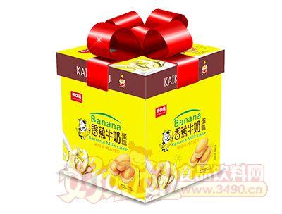 2017年年货礼盒开口福香蕉牛奶蛋糕